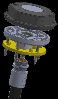 Беспроводной датчик уровня топлива ДУТ-КВ-Р01